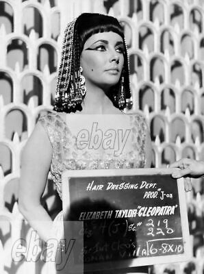 ELIZABETH TAYLOR CANDID PHOTO - Hair / Makeup Test for the 1963 film CLEOPATRA