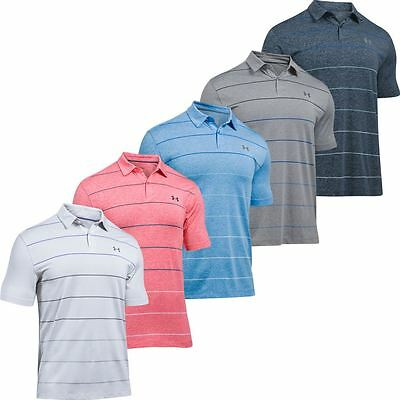 50% OFF Under Armour 2017 Mens UA CoolSwitch Pivot Stripe Golf Polo Shirt