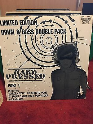 """Hard Pressed Part 1 EP 2x12"""" Limited Edition D&B DJ Touch Junior Cartel 2004"""