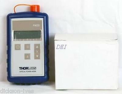 ThorLabs PM20CH Fiber Optic Power Meter w/ Power Charger, Manual Thor Labs