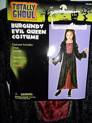 NEW Girls Totally Ghoul Burgundy Evil Queen Halloween Costume  Extra Large XL