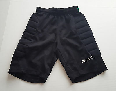Reusch Padded Goalkeeper Black Shorts Youth Size Small YS Soccer Goalie H14