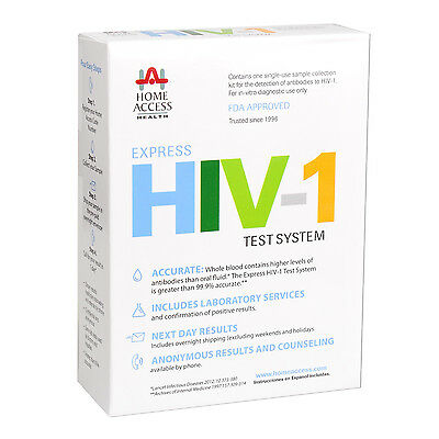 At Home Access Health HIV Express Test Kit AIDS Testing 1 Day Results System NEW