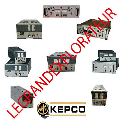 Ultimate KEPCO Power Supply  Operation Repair Service Manuals   330 manual s DVD