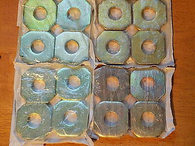"""Brass Plated Steel Spacers, 3/4"""" ID x 9mm thick; Wholesale Lot: 16 *NEW*"""