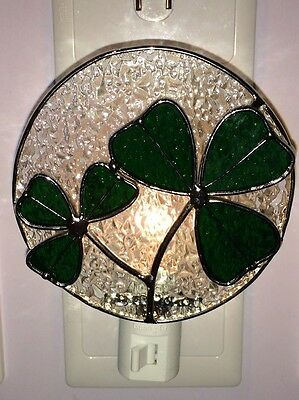 Stained Glass Green Clover Night Light New [9009-78]