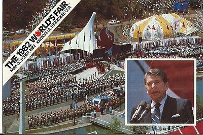 """Ronald Reagan"" 1982 World's Fair Postcard"