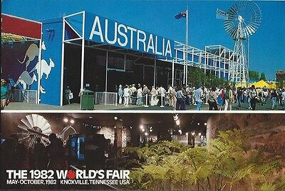 """Australia"" 1982 World's Fair Postcard"