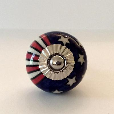 USA Stars and Strips Red White and Blue Cabinet Knobs Drawer Pulls