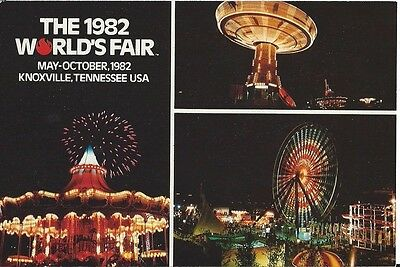 """Family Funfair Area"" 1982 World's Fair Postcard"