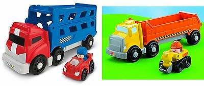 Fisher-Price Little People Wheelies Sports Car OR Construction Carriers x7821