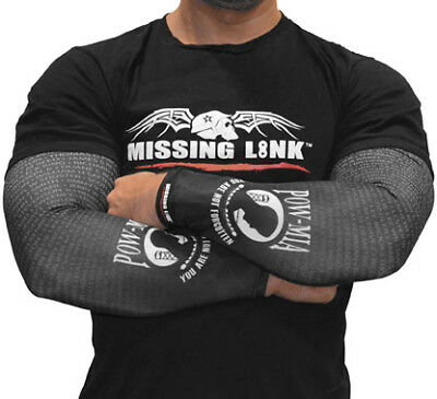 Missing Link Arm Pro POW MIA Motorcycle Riding Cooling Compression Sleeves