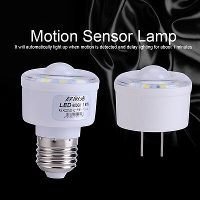 PIR Auto Infrared Motion Sensor 10 LED Lamp Energy Saving Light Bulb 1.8W 220V H