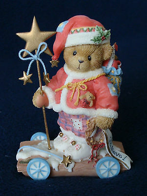 Cherished Teddies - Ricky - Limited Edition Santa Figurine - 104144 - 2002