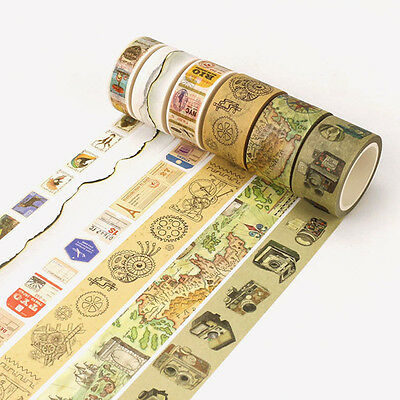 Retro Washi Tapes Washi Paper Masking Adhesive Sticker Scrapbook Craft DIY