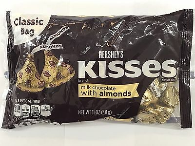 Hershey's KISSES Milk Chocolate with ALMONDS 311g Bag. BB 02/2018
