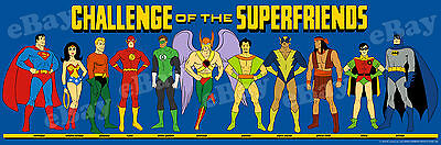 EXTRA LARGE! CHALLENGE OF THE SUPER FRIENDS Panoramic Photo Print HANNA BARBERA
