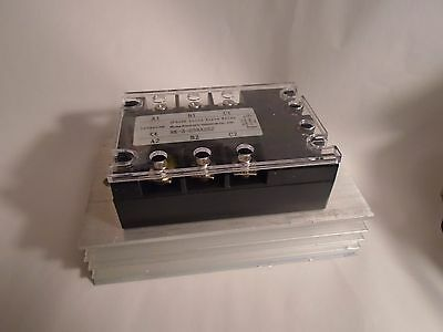 New 3 Phase Rk-3-D38A25Z Solid State Relay W/ Heat Sink 5-32Vdc 25A