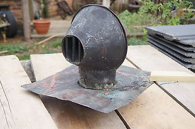 vintage victorian copper roof vent outlet with copper flashing steampunk light