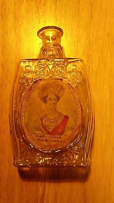 pontil cologne labeled around1840's hand painted watercolor!! Beautiful example