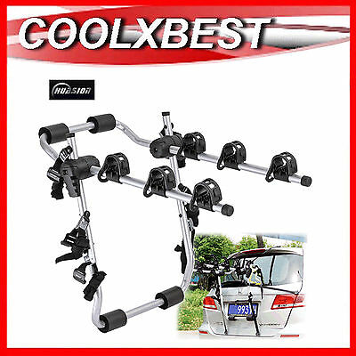 HBC BIKE RACK BICYCLE CARRIER REAR BOOT MOUNT For 3 BIKES STRAP ON CAR WAGON SUV