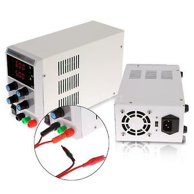 60V 5A Adjustable Variable Regulated DC Power Supply Lab Grade w/ Cable 110/220V