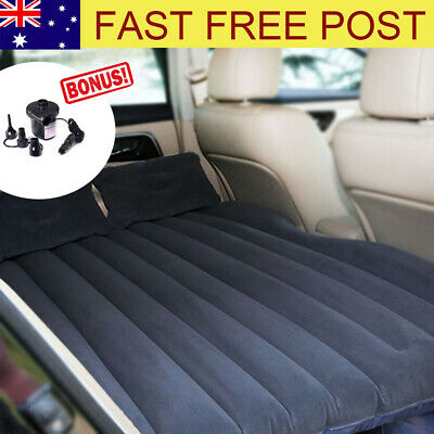 Car Inflatable Mattress Protable Travel Camping Air Bed Back Seat Rest Sleep Bed
