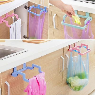 Hanging Trash Rubbish Bag Holder Garbage Rack Cupboard Cabinet Storage Hanger