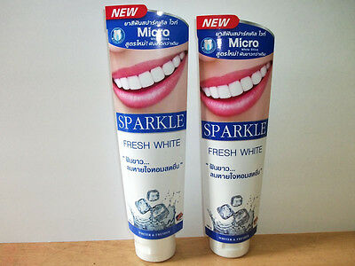 60G X 2Pcs Sparkle Fresh White Tooth Toothpaste White Vitamin C Xylitol Gum New