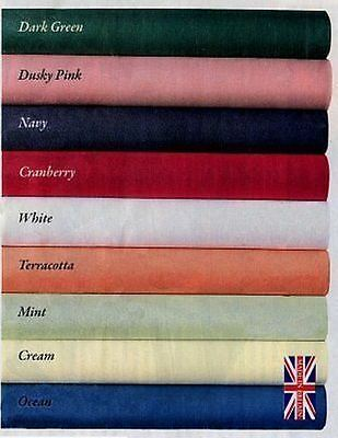 Luxury Plain Fabric Tablecloth Poly Cotton 68 Pick heavy by Diana Cowpe