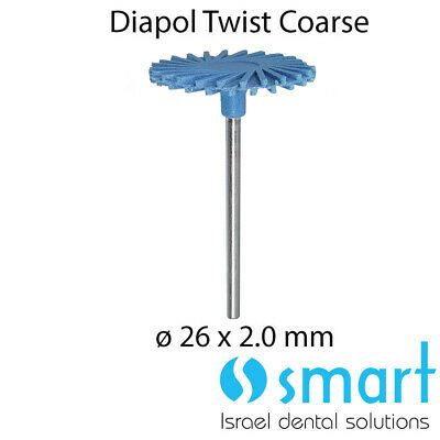 Dental Eve Diapol Twist HP CERAMIC polishing diamond system NEW CORSE 26 X 2.0 M