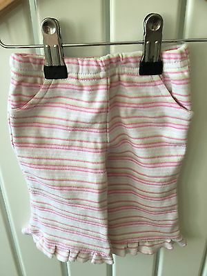 Baby Girl's Clothes 0-3 Months - BNWOT Pull On Striped Cotton Trousers