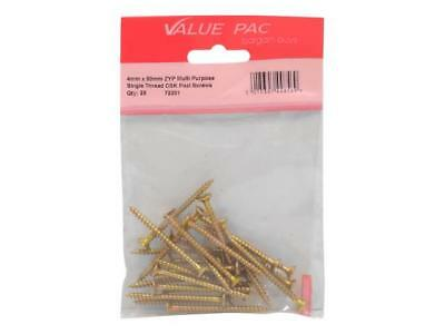 4mm x 50mm ZYP Multi Purpose Single Thread Countersunk Pozi Screws - 10 pack(s)