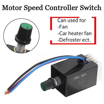 Motor Car Speed Controller Switch DC 12V 24V  Truck Fan Heater Control Defroster