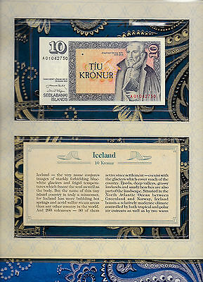 *Most Treasured Banknotes Iceland 10 Kronur 1961(1981) GEM UNC P48a.1 Prefix A