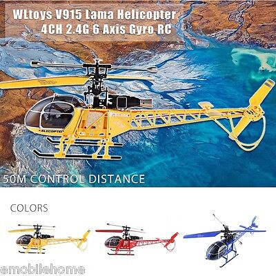 WLtoys V915 Lama 4CH 2.4G 6 Axis Gyro RC Helicopter RTF Propeller 2 Modes