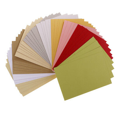 50x Sheet Double Sided Specialty Pearlescent Paper for Making Cards 15x10 cm