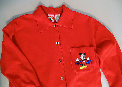 Disney Mickey Mouse Women's Red Jacket /  Shirt /  Size Small