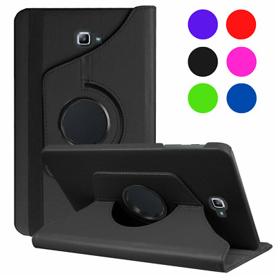 """High Quality Galaxy Tab A 10.1"""" T580 T585 Smart Rotating 360° Folio Stand Cover"""