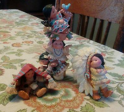 Enesco Friends of the Feather Collection Figurines Lot of Three 1994/1995