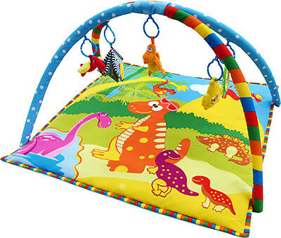 Bebe Style Musical Dino Baby Soft Playmat Nest Activity Gym Floor Mat  Toy