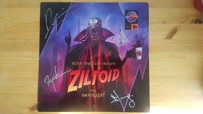 Devin Townsend Ziltoid the Omniscient rare signed tin plate