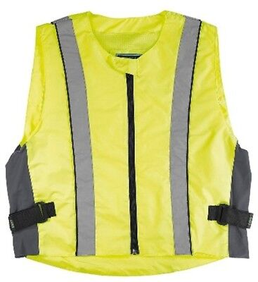 GERMAS High Visibility Vest Motorcycle Safety Vest Fluo Yellow Size L