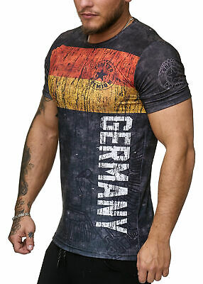 Deutschland T-Shirt Herren Schwarz Adler  Men Germany Tee Shirt WM 18 World Cup