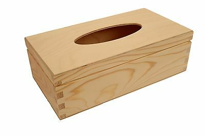 Plain Wood Tissue Box For CRAFT DECOUPAGE Wooden Box Cover HIGH QUALITY