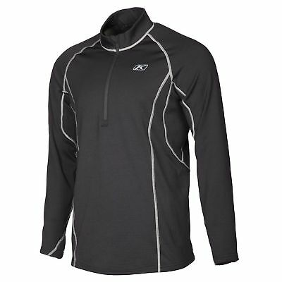 Klim Men's Black 1/4 Zip Aggressor 3.0 Layering Shirt L XL 2X 3293-002-140-000