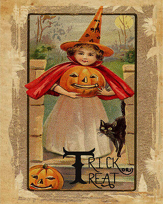 Halloween Witch Wicked VINTAGE ADVERTISING ENAMEL METAL TIN SIGN WALL PLAQUE