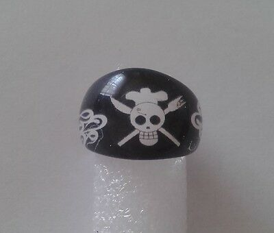 Boys/Kids Chef Skull & Knife & Fork Acrylic Ring - With Flames On The Side