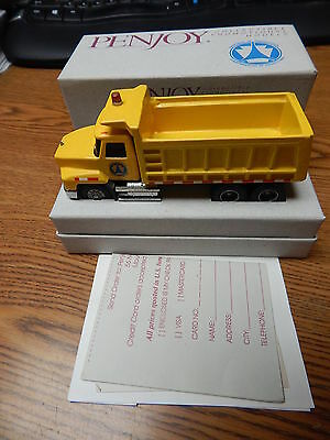 Penjoy 1996 Dot Pennsylvania Mack Dump Truck Little Dusty In Box Yellow Lqqk