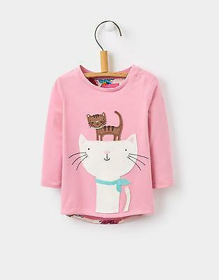 Joules 124136 Baby Girls Long Sleeved Top in Pink Size 0m-3m